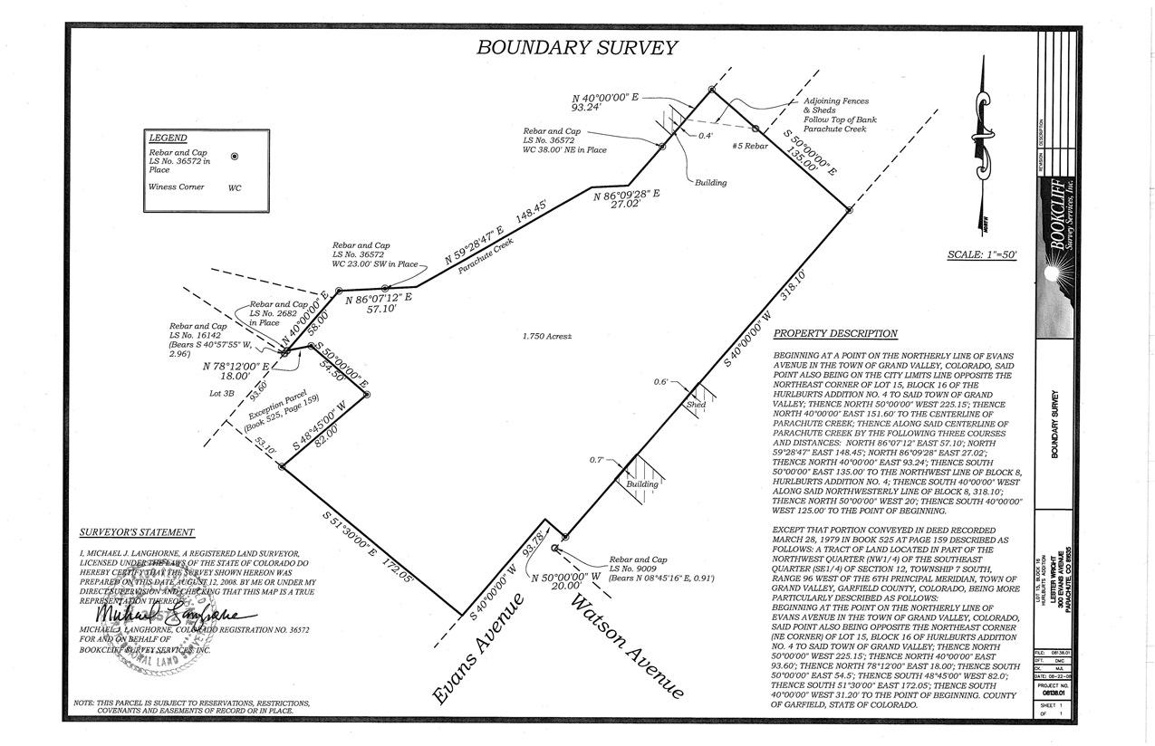 Mapping Wwwbookcliffsurveycom - Property line survey map